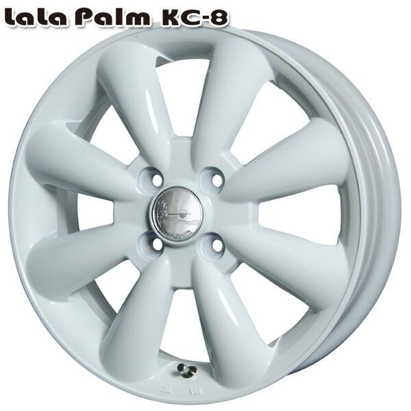 新品 サマータイヤホイール 4本セット 165 100%品質保証! 55R15インチ4H100 LaLa Palm ララパーム チープ ホワイトVITOUR ホワイトレターサマータイヤホイールセット KC-8 FORMULA X 送料無料 NewRWL