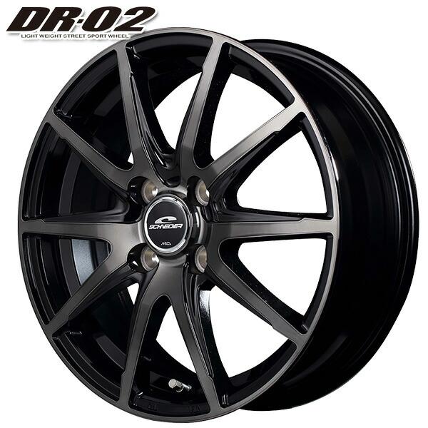 2020 新品 サマータイヤホイール 4本セット 165 55R14インチ4H100 シュナイダーDR-02 高級品 送料無料 ブラックポリッシュ TOYO SDK7サマータイヤホイールセット SD-K7 ブラッククリアトーヨー