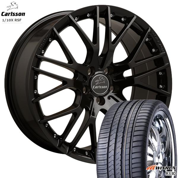 送料無料 225/35R20インチ カールソン 1/10X RSF ブラックエディション WINRUN ウィンラン R330 新品サマータイヤ ホイールセット