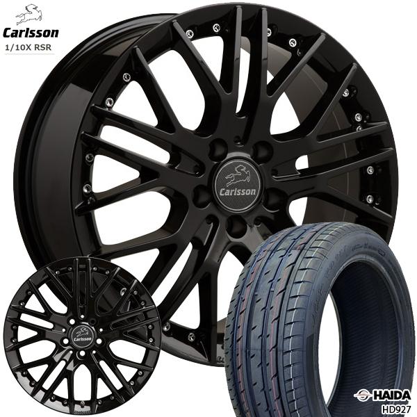 送料無料 215/40R18インチ 5H100カールソン 1/10X RSR ブラックエディション ハイダ HD927 新品サマータイヤ ホイール4本セット