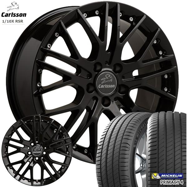 送料無料 225/45R18インチ 5H114カールソン 1/10X RSR ブラックエディション ミシュラン プライマシー4 新品サマータイヤ ホイール4本セット