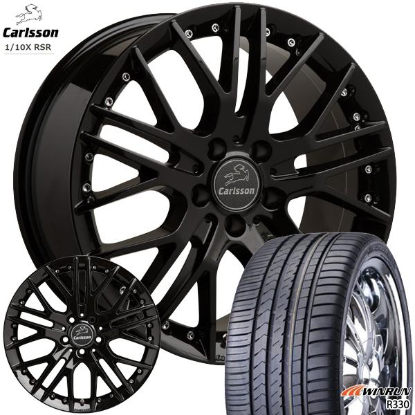 送料無料 215/45R18インチ 5H114カールソン 1/10X RSR ブラックエディション WINRUN ウィンラン R330 新品サマータイヤ ホイール4本セット