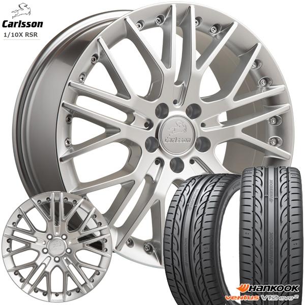 送料無料 225/40R18インチ 5H114カールソン 1/10X RSR ブリリアントエディション ハンコック K120 新品サマータイヤ ホイール4本セット