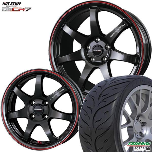 215/40R17インチ 5H114クロススピード ハイパーエディション CR7 フェデラル595RS-R 新品サマータイヤ ホイール4本セット