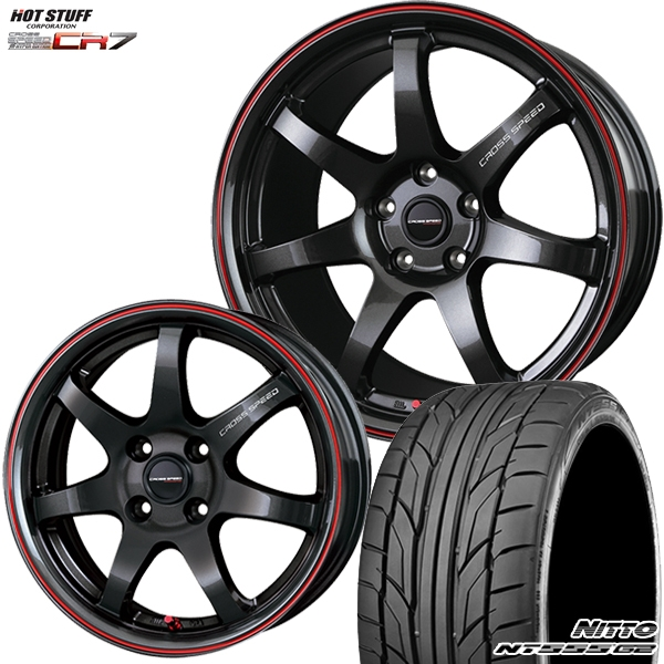 送料無料 215/35R18インチ クロススピード ハイパーエディション CR7 ニットーNITTO NT555G2 新品サマータイヤ ホイールセット
