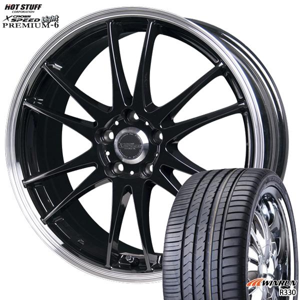 215/40R17インチ 5H114クロススピード プレミアム6 ライト WINRUN ウィンラン R330 新品サマータイヤ ホイール4本セット