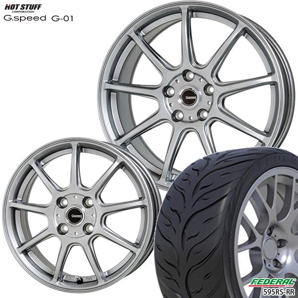 215/40R17インチ 5H114G-SPEED ジースピード G-01 フェデラル595RS-RR 新品サマータイヤ ホイール4本セット