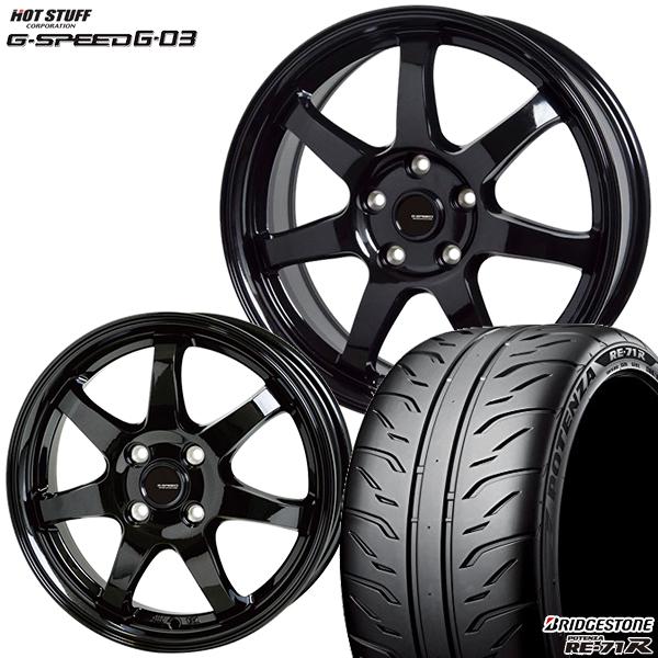 215/40R17インチ 5H114G-SPEED ジースピード G-03 ブリヂストン ポテンザRE-71R 新品サマータイヤ ホイール4本セット