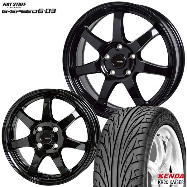 215/40R17インチ 5H114G-SPEED ジースピード G-03 ケンダKR20 新品サマータイヤ ホイール4本セット