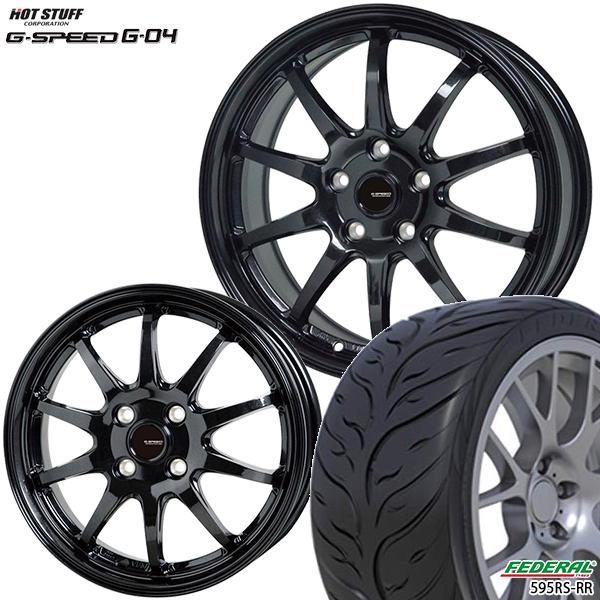 送料無料 215/40R17インチ G-SPEED ジースピード G-04 フェデラル595RS-R 新品サマータイヤ ホイールセット