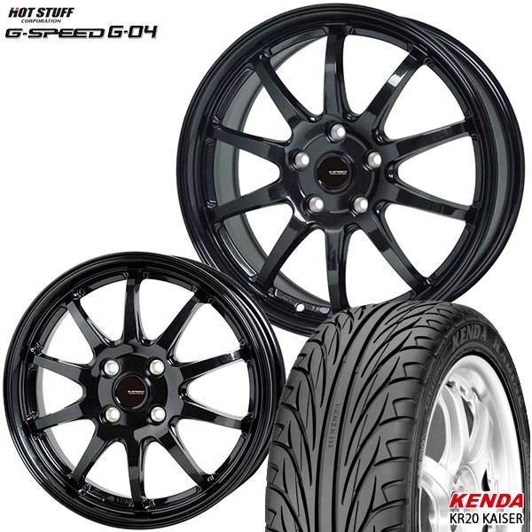 215/40R17インチ 5H114G-SPEED ジースピード G-04 ケンダKR20 新品サマータイヤ ホイール4本セット