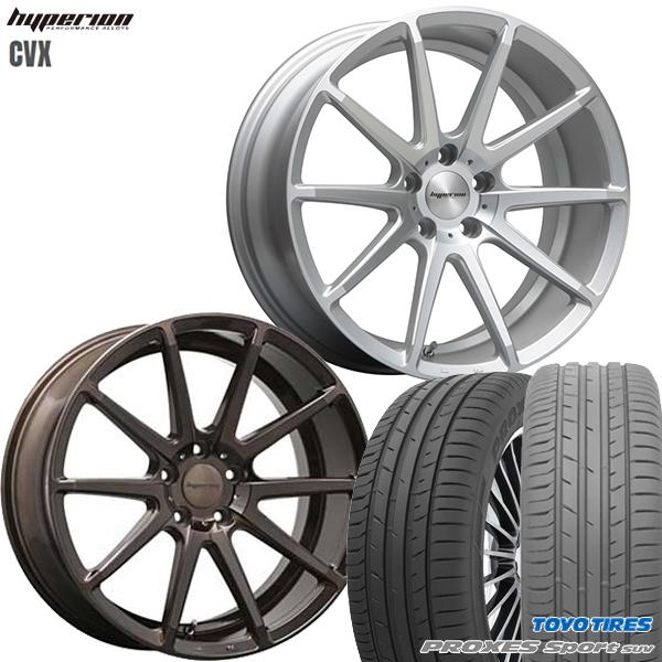 245/45R20インチ 5H114MLJ ハイペリオン CVX ブロンズ トーヨー プロクセスCF2 SUV 新品サマータイヤ ホイール4本セット