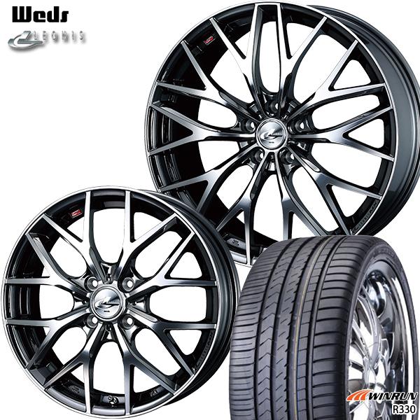 週間売れ筋 送料無料 215/35R18インチ ウェッズ レオニス MX BMCMC ウィンラン R330 新品サマータイヤ ホイール4本セット, チネンソン 0526addf