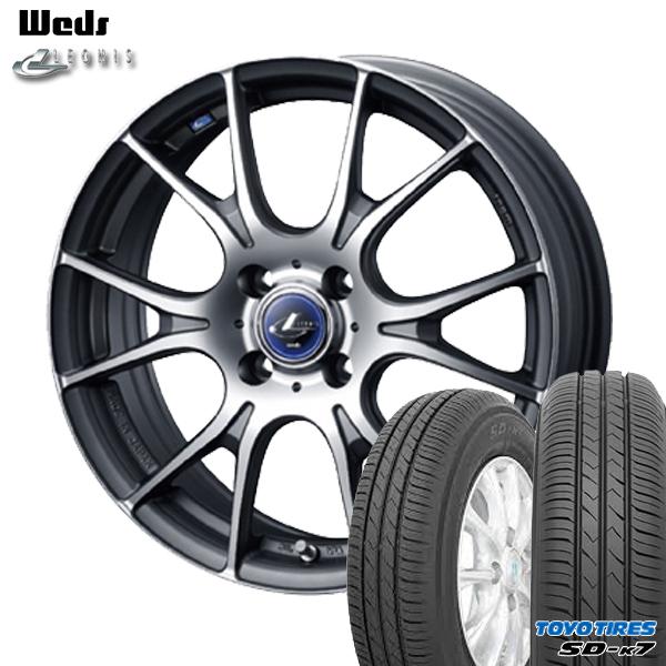 送料無料 165/55R15インチ ウェッズ レオニス ナヴィア02 MGMC トーヨー TOYO SD-K7 SDK7 軽自動車用 新品サマータイヤ ホイールセット