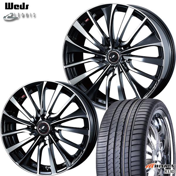送料無料 225/45R19インチ ウェッズ レオニス VT PBMC ウィンラン R330 新品サマータイヤ ホイール4本セット
