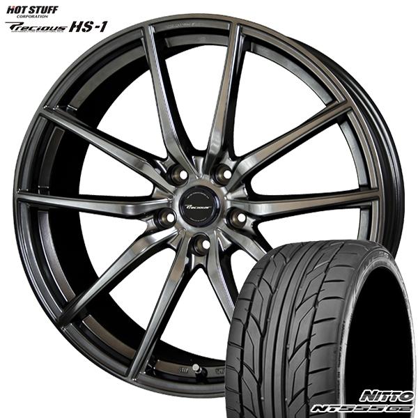 245/40R20インチ 5H114プレシャス HS-1 ニットーNITTO NT555G2 新品サマータイヤ ホイール4本セット