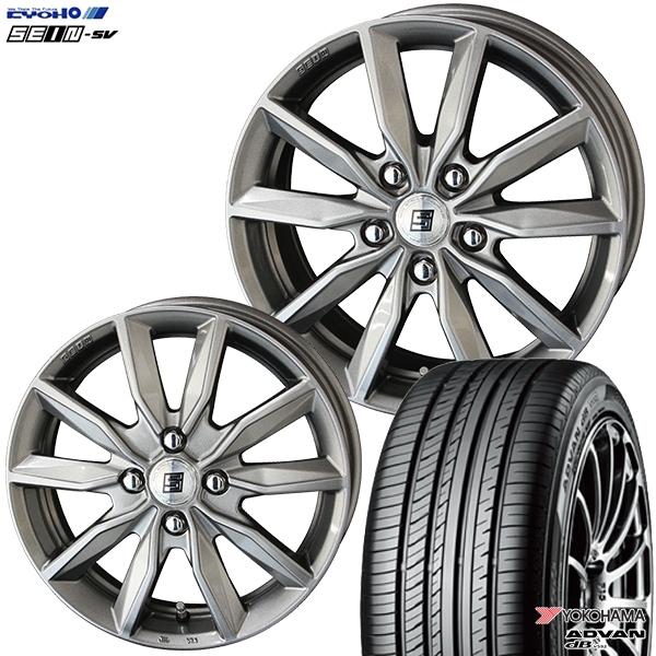 送料無料 215/50R17インチ 共豊 SEIN ザイン SV ヨコハマ アドバンデシベル V552 新品サマータイヤ ホイール4本セット