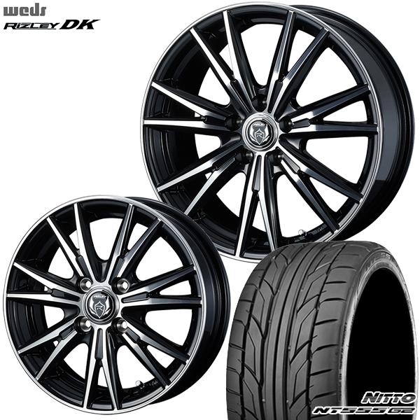 送料無料 215/35R18インチ ウェッズ ライツレー DK ニットーNITTO NT555G2 新品サマータイヤ ホイールセット
