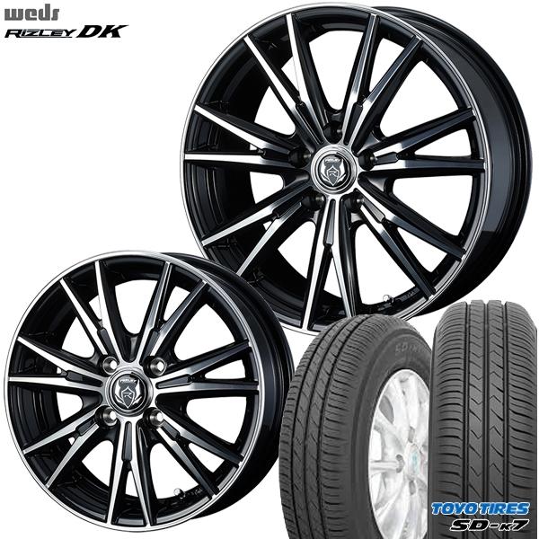 送料無料 155/65R14インチ ウェッズ ライツレー DK トーヨー TOYO SD-K7 SDK7 軽自動車用 新品サマータイヤ ホイール4本セット