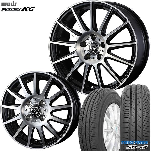 送料無料 155/65R14インチ ウェッズ ライツレー KG トーヨー TOYO SD-K7 SDK7 軽自動車用 新品サマータイヤ ホイールセット