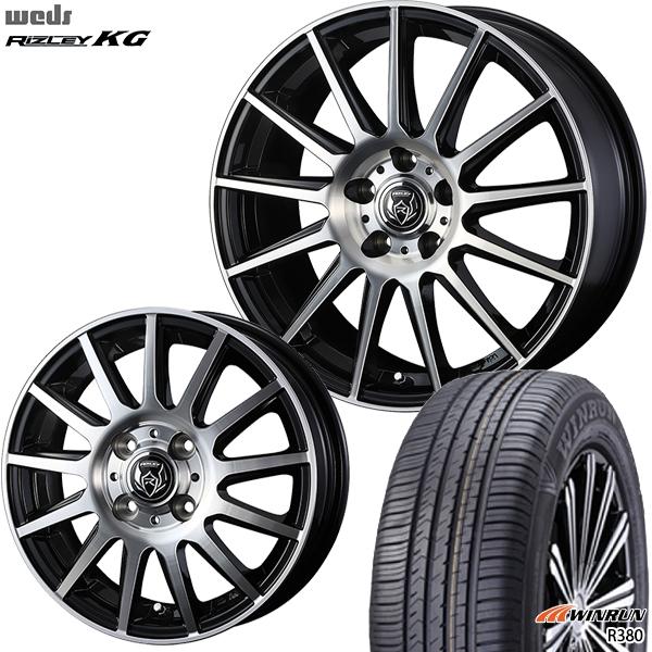 175/65R14インチ 4H100ウェッズ ライツレー KG WINRUN ウィンラン R380 新品サマータイヤ ホイール4本セット