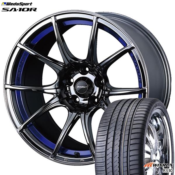 215/35R18インチ 5H114ウェッズスポーツ SA10R BLC WINRUN ウィンラン R330 新品サマータイヤ ホイール4本セット