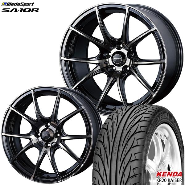 送料無料 215/40R17インチ ウェッズスポーツ SA10R ZBB ケンダKR20 新品サマータイヤ ホイールセット