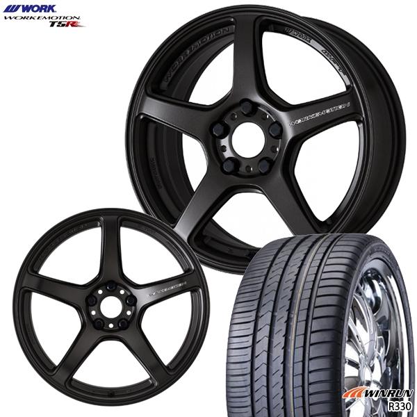 215/35R18インチ 5H114WORK ワーク エモーション T5R MGK ウィンラン R330 新品サマータイヤ ホイール4本セット