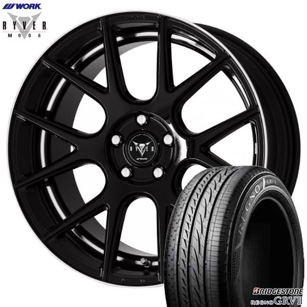 245/40R20インチ 5H114WORK RYVER ワーク レイバー M006 ブラック ブリヂストン レグノ GRV2 新品サマータイヤ ホイール4本セット
