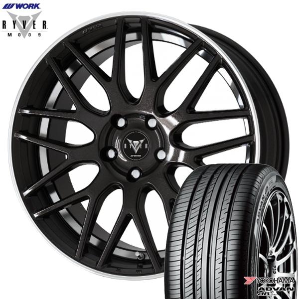 245/40R19インチ 5H114WORK RYVER ワーク レイバー M009 ブラック ヨコハマ アドバンデシベル V552 新品サマータイヤ ホイール4本セット