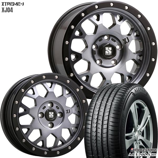 285/50R20インチ 6H139MLJ エクストリームJ XJ04 スモーククリア ブリヂストン アレンザ001 新品サマータイヤ ホイール4本セット