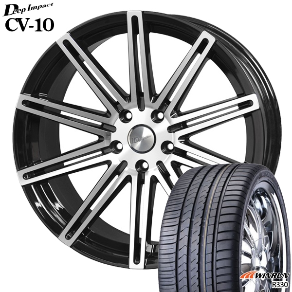 245/45R20インチ 5H114ディープインパクトCV10 ウィンランR330 新品サマータイヤ ホイール4本セット