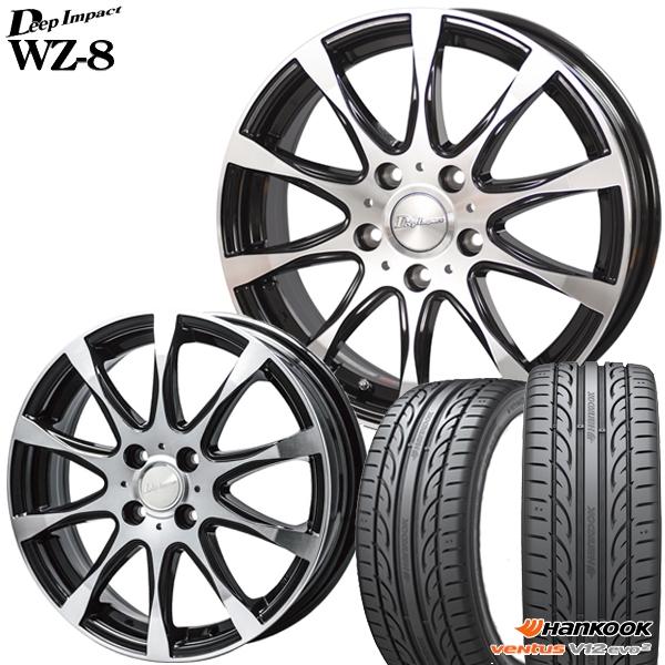 送料無料 215 50-17インチ 人気の製品 新品夏タイヤ ホイール4本セット 50R17インチ ハンコック ディープインパクトWZ8 K120 新品サマータイヤ ホイールセット 倉庫