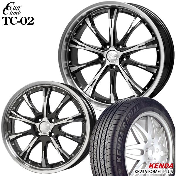送料無料 165/50R15インチ クリフクライム TC02 ケンダ KR23A 軽自動車用 新品サマータイヤ ホイール4本セット