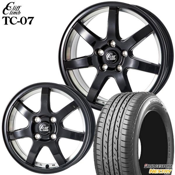 送料無料 155/65R14インチ クリフクライム TC07 ブラック ブリヂストン ネクストリー 新品サマータイヤ ホイール4本セット