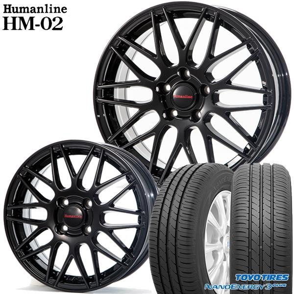 送料無料 195/65R15インチ ヒューマンライン HM02 ブラック トーヨー ナノエナジー3プラス 新品サマータイヤ ホイール4本セット