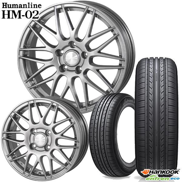 送料無料 165/55R15インチ ヒューマンライン HM02 ハンコック H433 軽自動車用 新品サマータイヤ ホイール4本セット