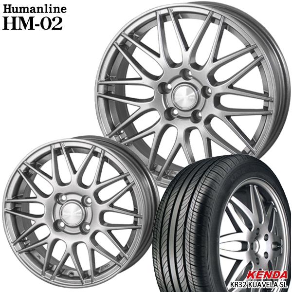 送料無料 215/60R17インチ ヒューマンライン HM02 ケンダ KR32 新品サマータイヤ ホイール4本セット