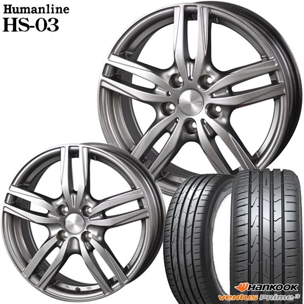 送料無料 165/50R15インチ ヒューマンラインHS03 ハンコック K125 軽自動車用 新品サマータイヤ ホイール4本セット