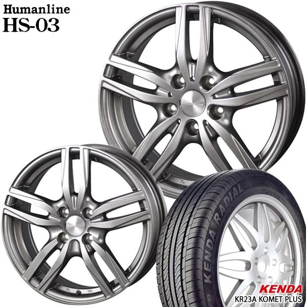 送料無料 165/55R15インチ ヒューマンラインHS03 ケンダ KR23A 軽自動車用 新品サマータイヤ ホイール4本セット