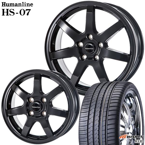 送料無料 215/45R17インチ ヒューマンライン HS07 WINRUN ウィンラン R330 新品サマータイヤ ホイール4本セット