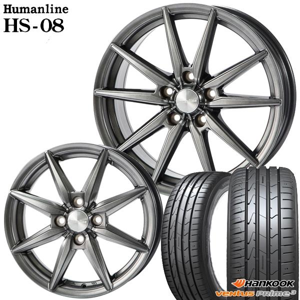 送料無料 165/50R15インチ ヒューマンラインHS08 ハンコック K125 軽自動車用 新品サマータイヤ ホイール4本セット