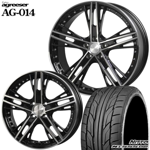 送料無料 225/45R18インチ アグレッサー AG014 ニットーNITTO NT555G2 新品サマータイヤ ホイール4本セット