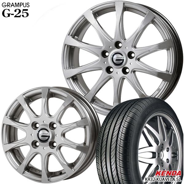 送料無料 195/60R16インチ グランパス G25 ケンダKR32 新品サマータイヤ ホイール4本セット