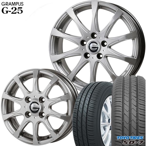 送料無料 185/65R15インチ グランパス G25 トーヨー TOYO SD-7 SD7 新品サマータイヤ ホイール4本セット