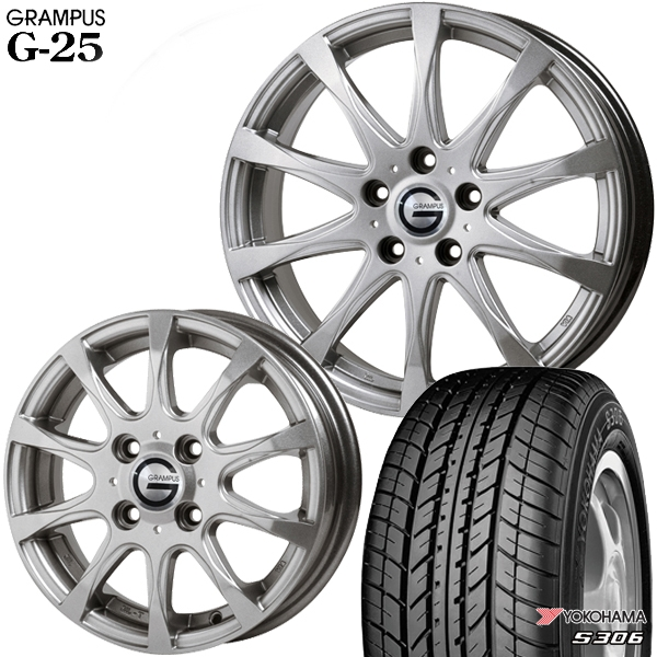 送料無料 155/65R13インチ グランパス G25 ヨコハマ S306 新品サマータイヤ ホイール4本セット
