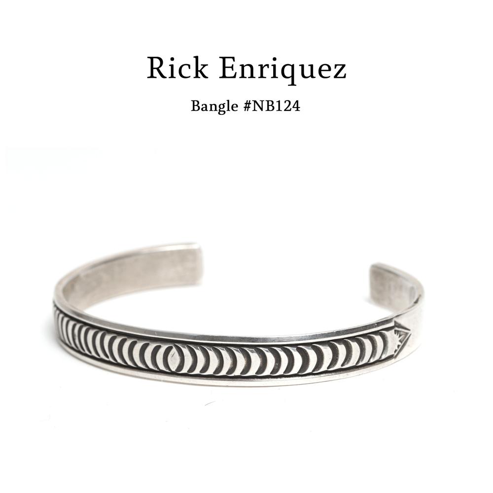 【メール便配送】Rick Enriquez(リック・エンリケス) スタンクワークバングル  【ナバホ族 Navajo】#NB124 インディアンジュエリー