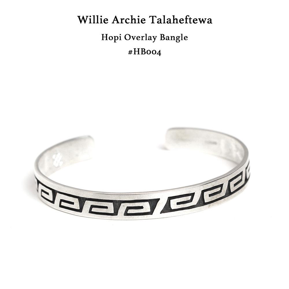 Willie Archie Talaheftewa ウィリー アーチー タラヘフティワ オーバーレイバングル ホピ族 Hopi #HB004 インディアンジュエリー