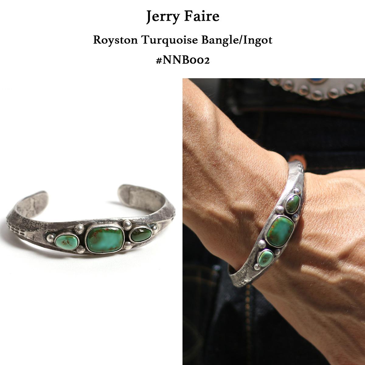 【メール便配送】 Jerry Faires(ジェリー フェアーズ) ロイストンターコイズバングル インゴット 【Non Native】#NB002 インディアンジュエリー