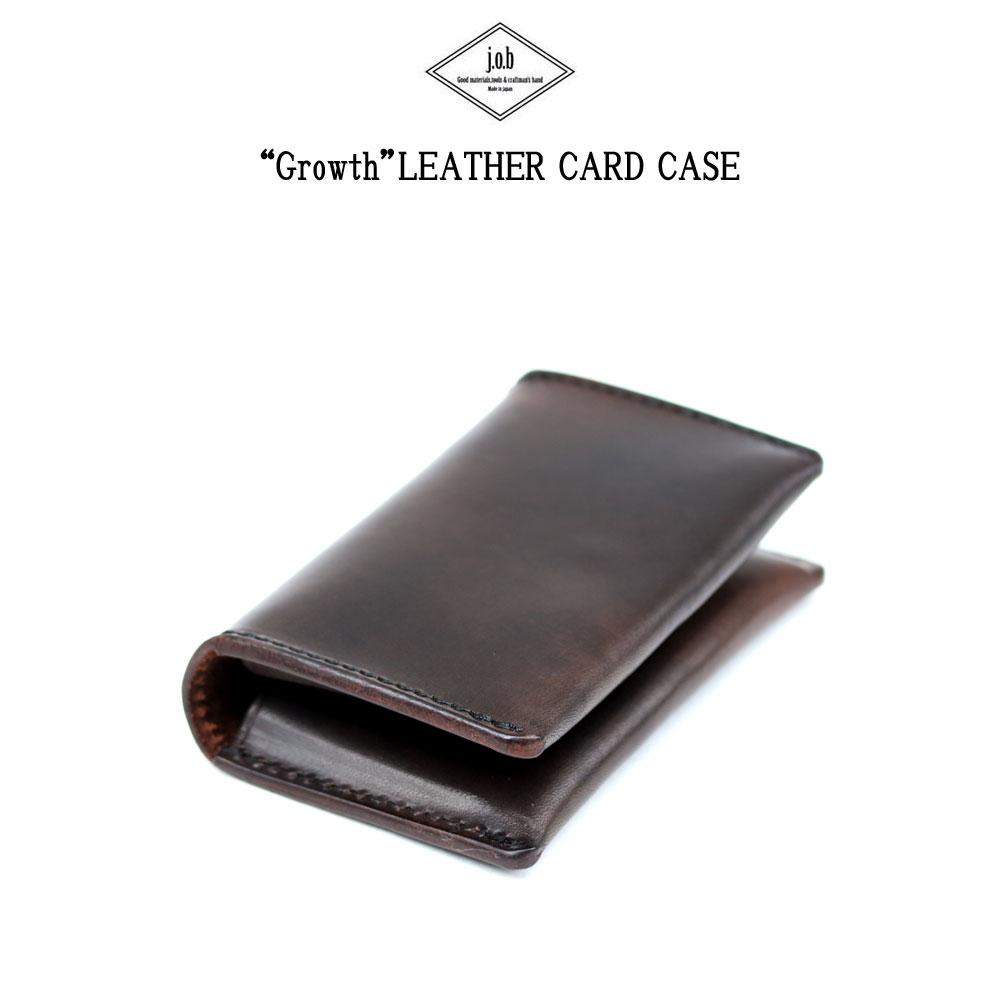 【メール便配送】 j.o.b leather products レザーカードケース 名刺入れ Growth